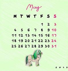 2015 horses may vector image