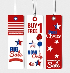 4 th of July Happy independence day Sale Coupon vector