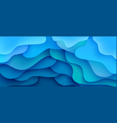 abstract background wave motion flow blue vector image