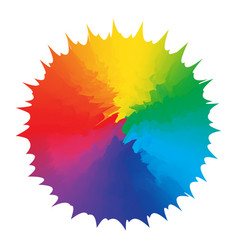 abstraction figure multicolors rainbow design vector image
