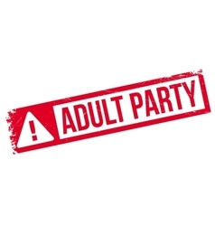 Adult Party rubber stamp vector