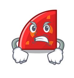 Angry quadrant mascot cartoon style vector