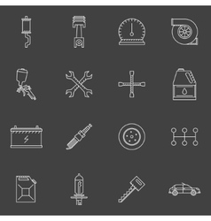 Auto service or repair icons set vector image