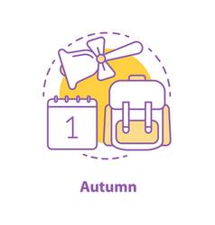 autumn season concept icon vector image
