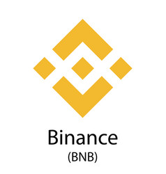 Binance cryptocurrency symbol vector