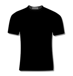 Black t-shirt vector image