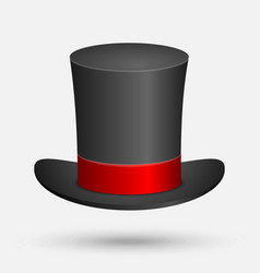 Black top hat isolated vector