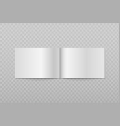 blank open horizontal brochure white booklet or vector image