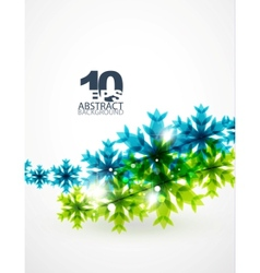 blue snowflake abstract background vector image