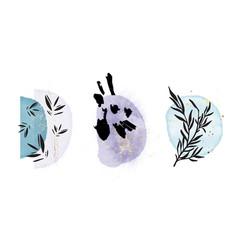 boho rustc one line plant oriental minimalist art vector image