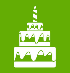 cake icon green vector image
