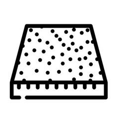 Carpet floor line icon vector