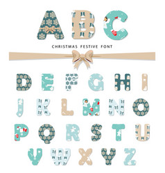 christmas festive font vector image