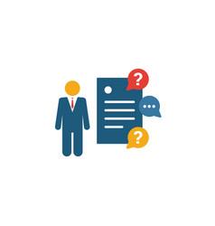 Client brief icon set four elements in diferent vector
