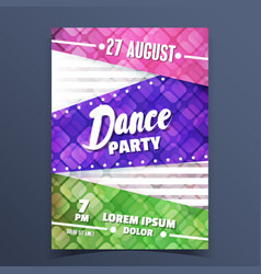 colorful dance party announcement vector image