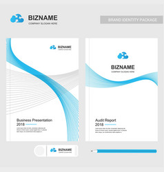 Company brochure with elegent design with vector