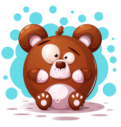 cute crazy bear - cartoon vector image