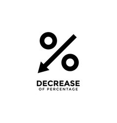 decrease percentage graphic design template vector image