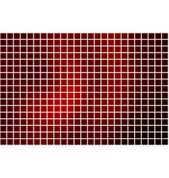 Deep burgundy red square mosaic background over vector