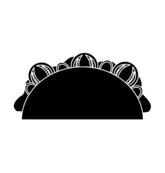 Delicious mexican burrito fast food icon vector