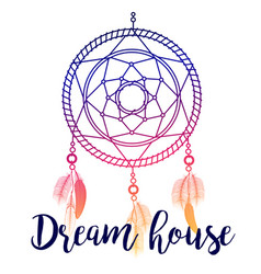 Dream house poster vector