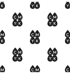 Drops icon in black style isolated on white vector image