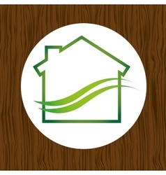 eco house icon design vector image
