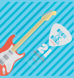electric guitar banner background vector image