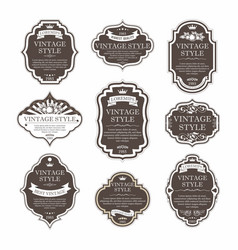 Elegant premium labels set collection vector