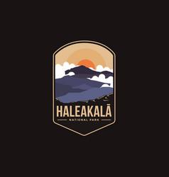 Emblem patch haleakala mountains national park vector