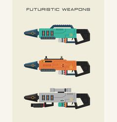 futuristic weapon vector image