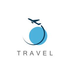 Globe travel logo vector