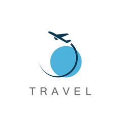 globe travel logo vector image