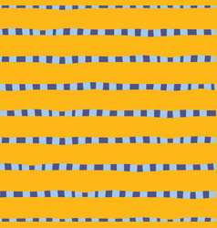 hand drawn horizontal stripes yellow gold blue vector image