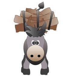 Happy donkey vector image