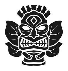Hawaii god idol icon simple style vector