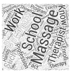 How to Become a Massage Therapist Word Cloud vector