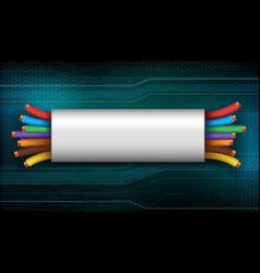 industrial electrical wire vector image