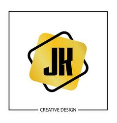 Initial jk letter logo template design vector