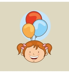 kids celebrating design vector image