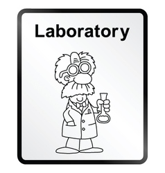 Laboratory Information Sign vector image