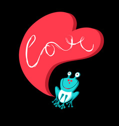 love with a frog vector image