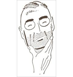 Man Thinking vector image