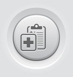 medical report and services flat icon vector image