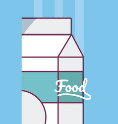 Milk box drink product vector