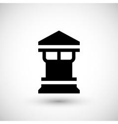 Modern chimney icon vector