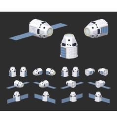 Modern reusable spaceship vector image