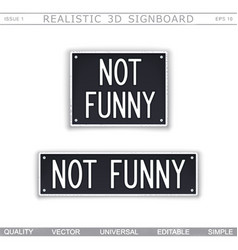 Not funny vector