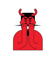 omg red devil oh my god satan frightened demon vector image