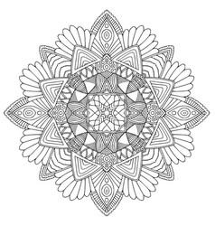 ornamental mandala art design unique vector image
